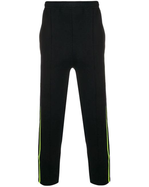 メンズ Prada サイドストライプ スウェットパンツ Black