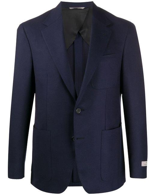 メンズ Canali パッチポケット ジャケット Blue