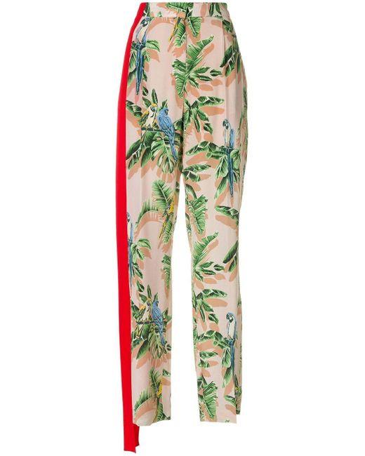 Stella McCartney Pink Tropical Print Trousers