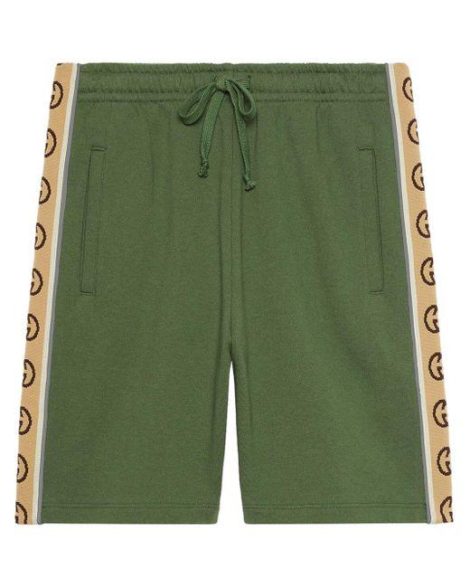 メンズ Gucci コットン ショートパンツ Green