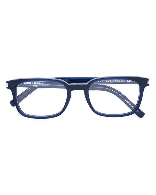 メンズ Saint Laurent Sl 7 眼鏡フレーム Blue