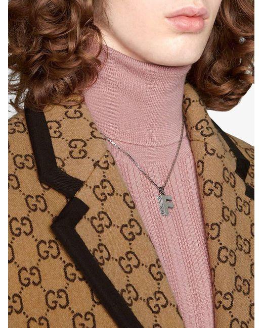 Gucci F ペンダント ネックレス Multicolor