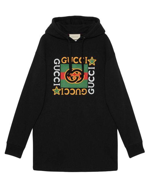 Gucci ロゴ フーデッドドレス Black