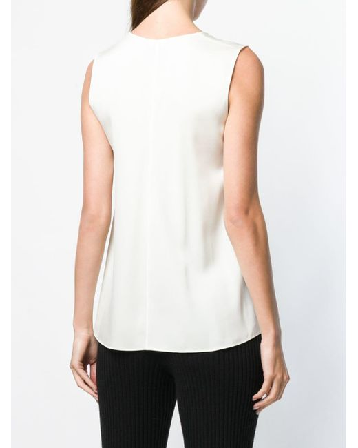 f9baa5fbbf9d4 ... Theory - White A-line V-neck Top - Lyst ...