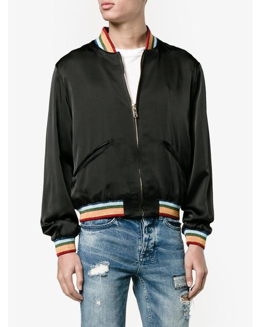 9de99ebdab657 Lyst - Palm Angels Rainbow Bomber Jacket in Black for Men