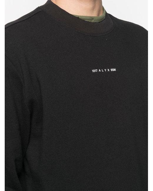 メンズ 1017 ALYX 9SM ロゴ プルオーバー Black