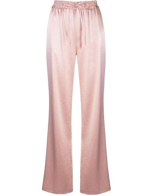MILLY ハイライズ ワイドパンツ Pink