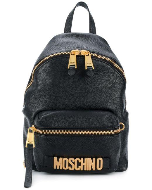 Moschino ロゴプレート バックパック Black