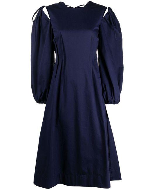 Vestito svasato di MSGM in Blue