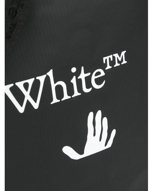 メンズ Off-White c/o Virgil Abloh ロゴ トートバッグ Black