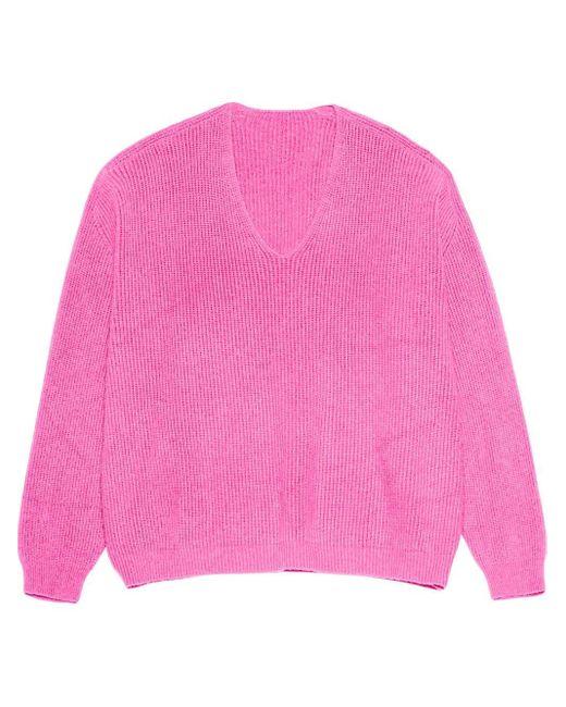 Apparis Vネックセーター Pink