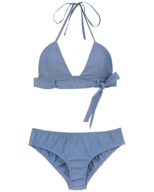 Adriana Degreas - Blue Denim Bikini Set - Lyst