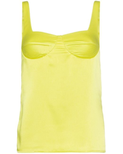 Galvan Green Strappy Camisole Top