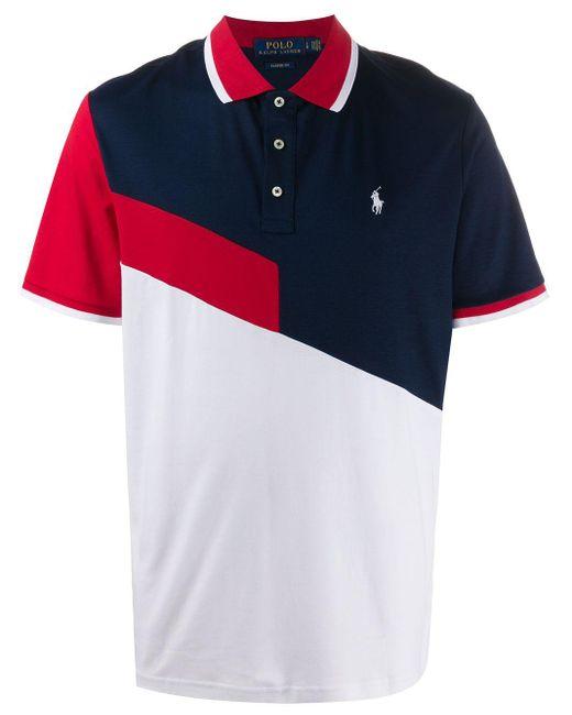 メンズ Polo Ralph Lauren カラーブロック ポロシャツ White