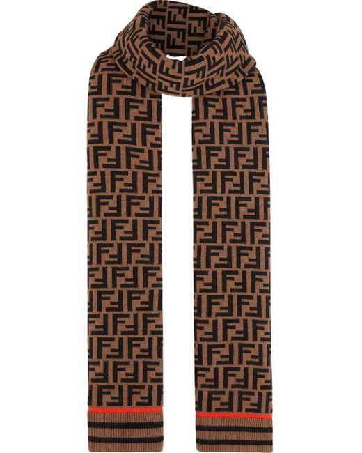 Fendi Ffロゴ スカーフ Multicolor