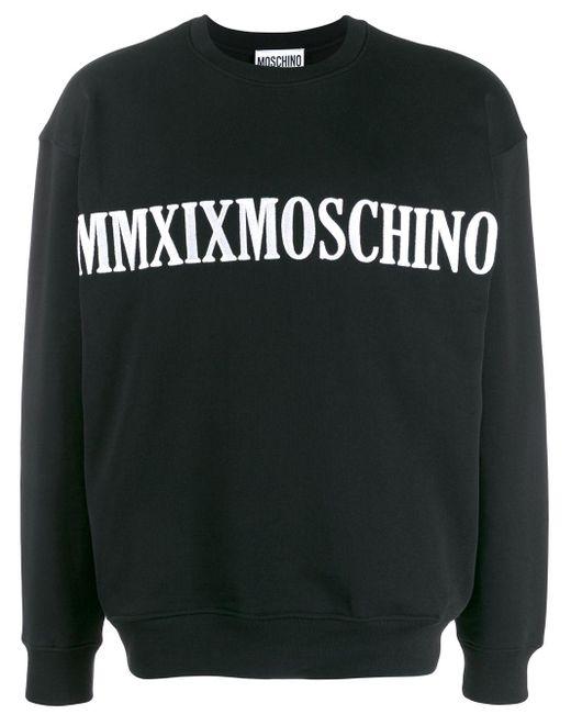 Толстовка С Вышитым Логотипом Moschino для него, цвет: Black