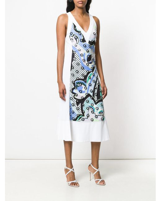 embellished printed-panel midi dress - Multicolour Emilio Pucci Cheap With Paypal 1Vo0by1ZK9