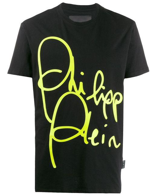 メンズ Philipp Plein ラウンドネック Tシャツ Black