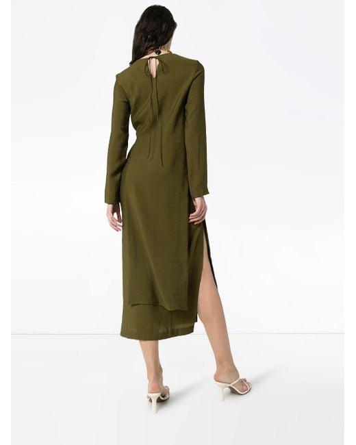 Matériel カットアウト ドレス Green