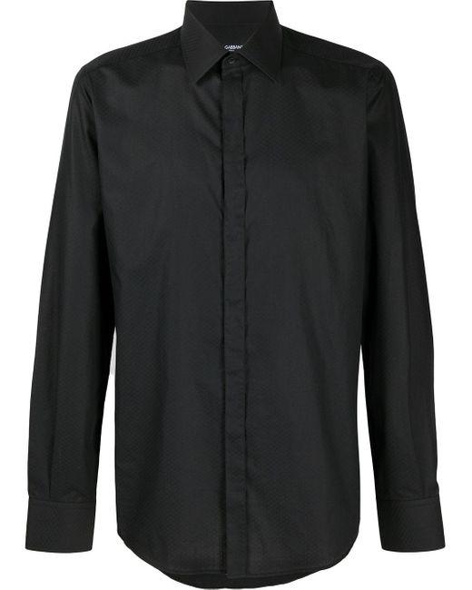 メンズ Dolce & Gabbana テクスチャード シャツ Black