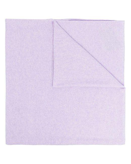 Pringle of Scotland ファインニット カシミアスカーフ Purple