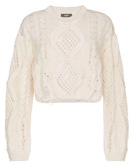 Amiri オープンニット セーター Multicolor