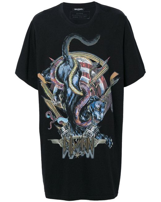 Balmain - Black Panther T-shirt for Men - Lyst