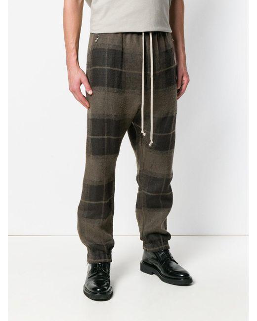 9496c4ab Men's Brown Plaid Track Pants