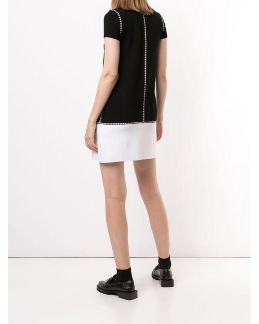 Paule Ka チェック ドレス Black