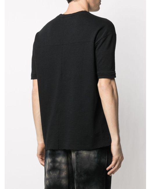 メンズ Thom Krom パネル Tシャツ Black