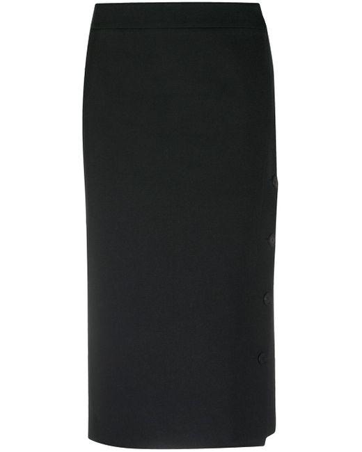 Юбка-карандаш С Асимметричной Застежкой На Пуговицы Balenciaga, цвет: Black