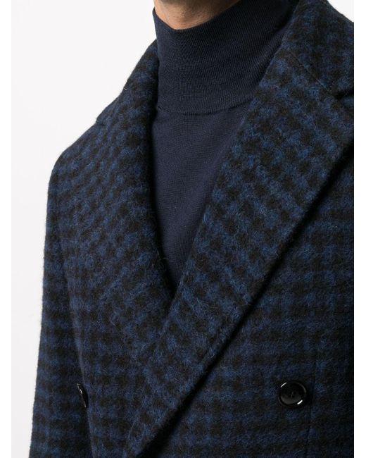 メンズ Mp Massimo Piombo Roger チェック コート Blue