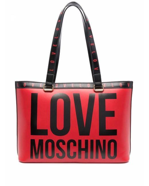 Love Moschino ロゴ ハンドバッグ Red