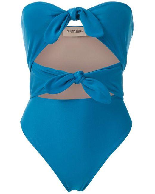 Купальник С Узлом Adriana Degreas, цвет: Blue