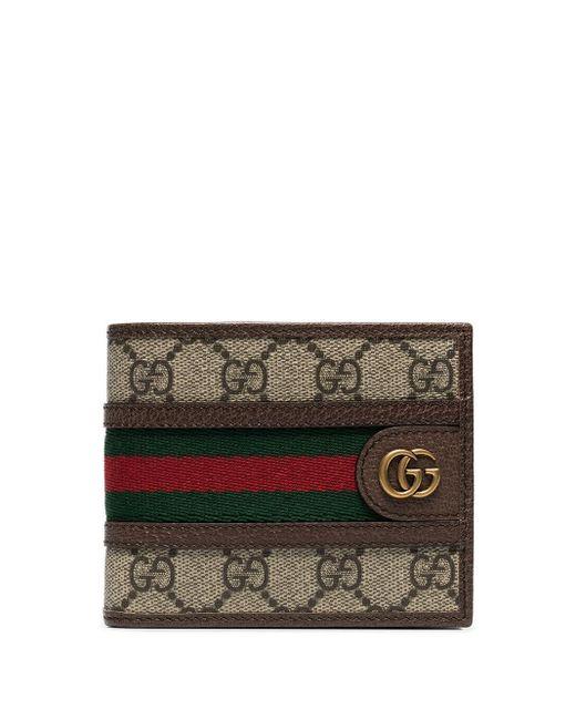 Бумажник Ophidia GG Gucci для него, цвет: Brown