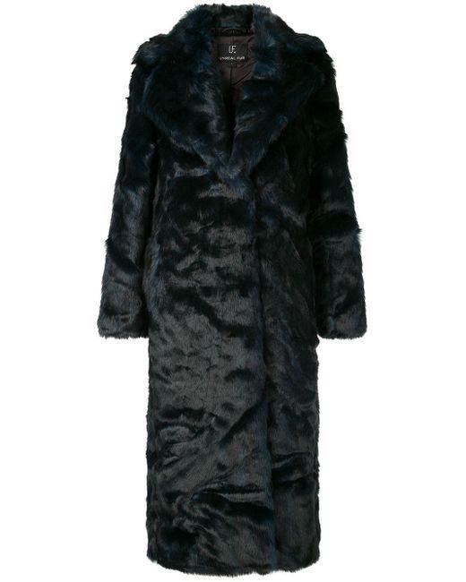 Unreal Fur Green Oversized Textured Coat