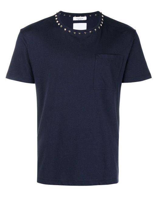 メンズ Valentino Garavani Rockstud Untitled Tシャツ Blue