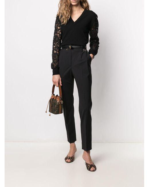 Dolce & Gabbana レーススリーブ プルオーバー Black