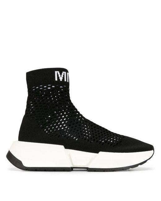 MM6 by Maison Martin Margiela ランナー ソックス スニーカー Black