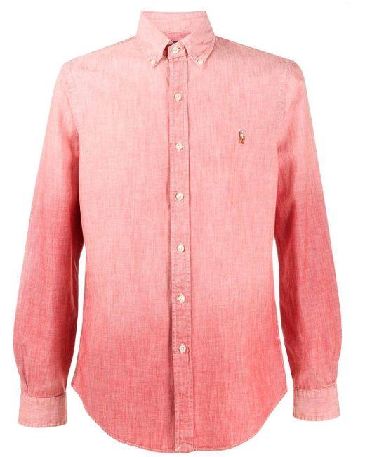 メンズ Polo Ralph Lauren グラデーション シャツ Pink