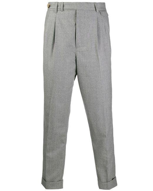 メンズ Brunello Cucinelli テーパード パンツ Gray