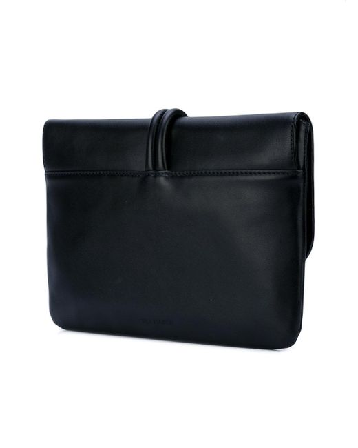 Tila March Black Romy Medium Clutch Bag