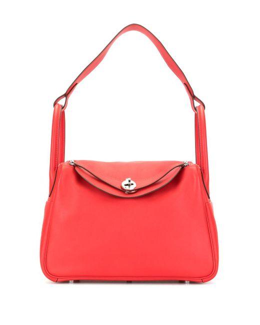 Сумка-тоут Lindy 30 2019-го Года Pre-owned Hermès, цвет: Red