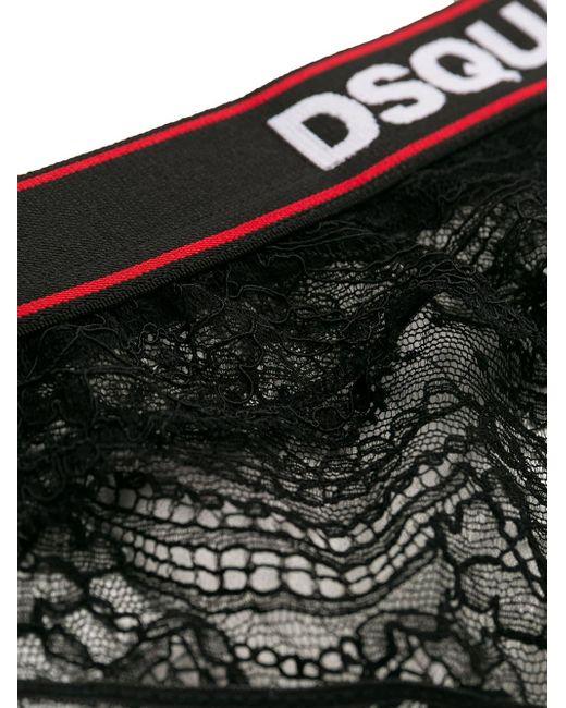 DSquared² ロゴ レースショーツ Black