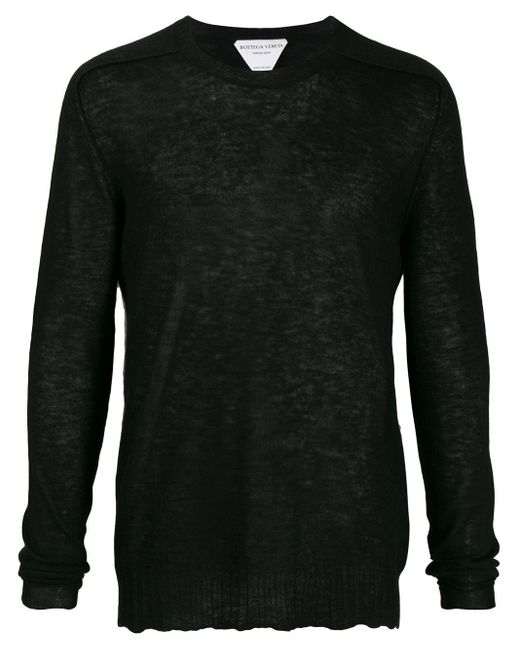 Джемпер С Круглым Вырезом Bottega Veneta для него, цвет: Black