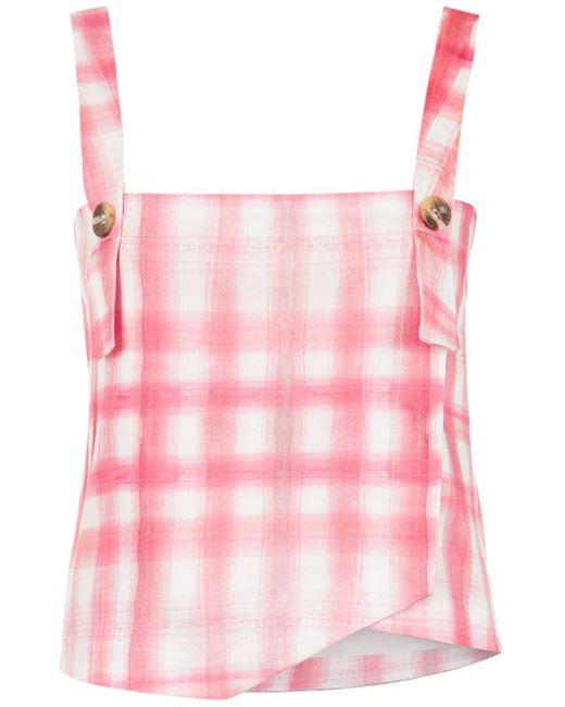 Olympiah Top con estampado Petri de mujer de color rosa UIKRv
