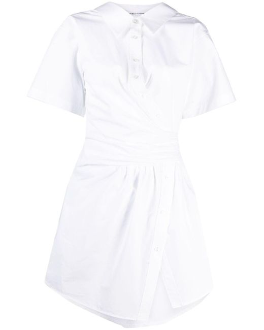 Chemisier a manica corta di T By Alexander Wang in White