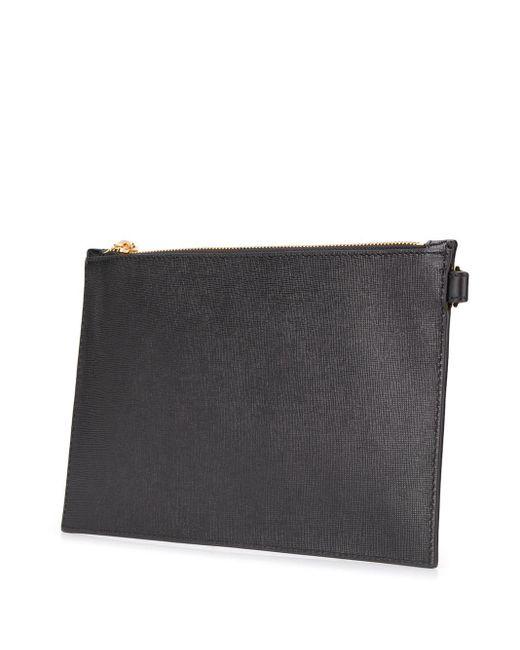Клатч С Принтом Versace для него, цвет: Black