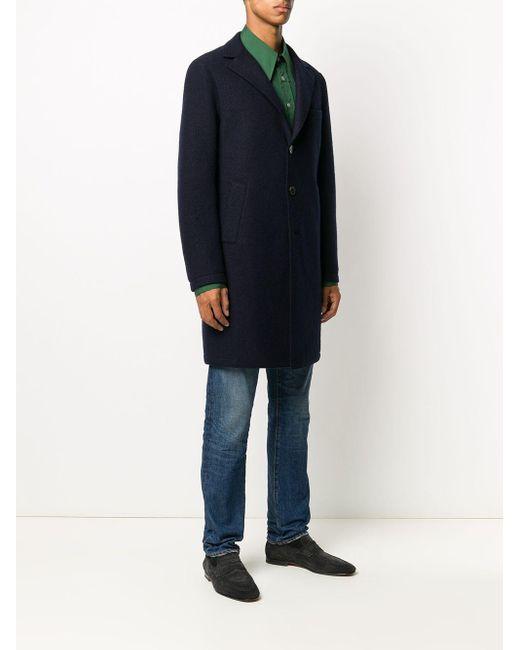 メンズ Eleventy ウール シングルコート Blue