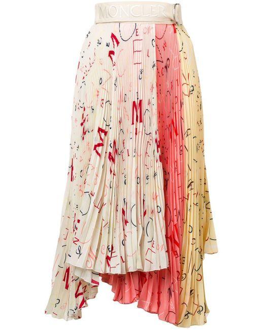 Moncler アシンメトリー プリーツスカート Multicolor
